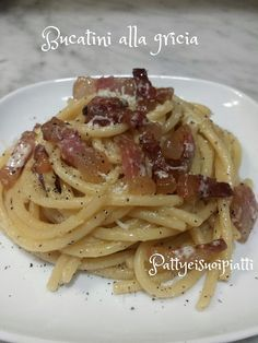 Bucatini+alla+Gricia+ricetta+originale