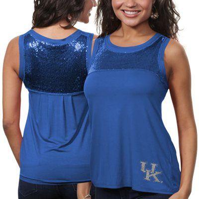 Kentucky Wildcats Ladies Sequin Tank Top - Royal Blue