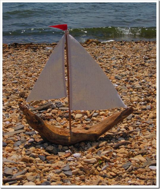 sailboat made out of driftwood 023