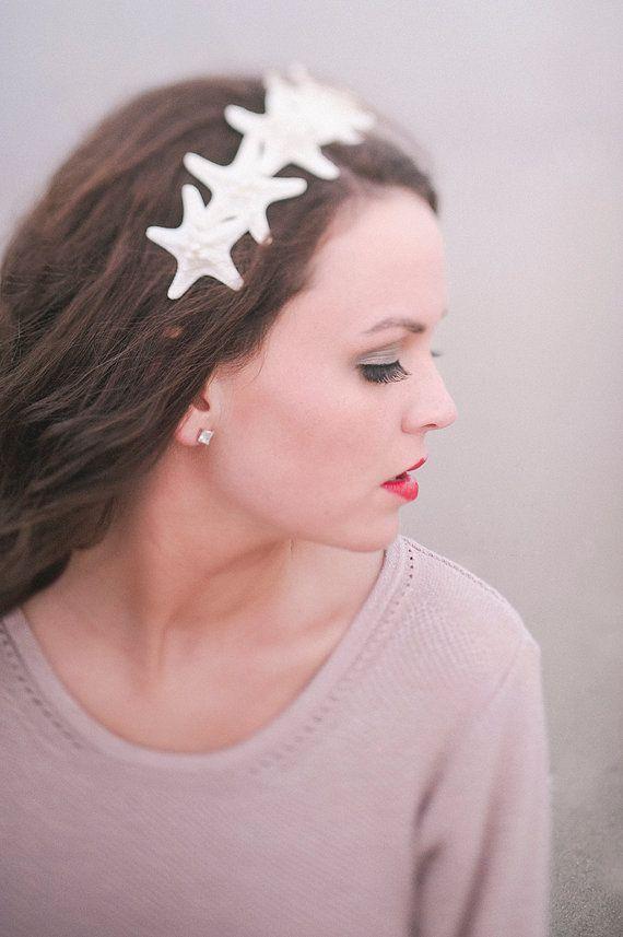 Pearl-topped Knobby Starfish Headband Mermaid by PoppyCoast
