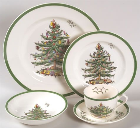 a wonderful pleasure for me is my complete set of english spode christmas tree china these dishes have been a tradition for many many family