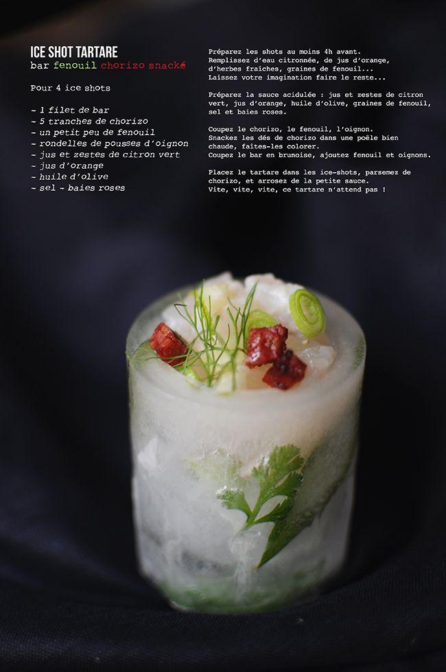 vanessa | pouzet | Battle Food #10 / Ice shot tartare