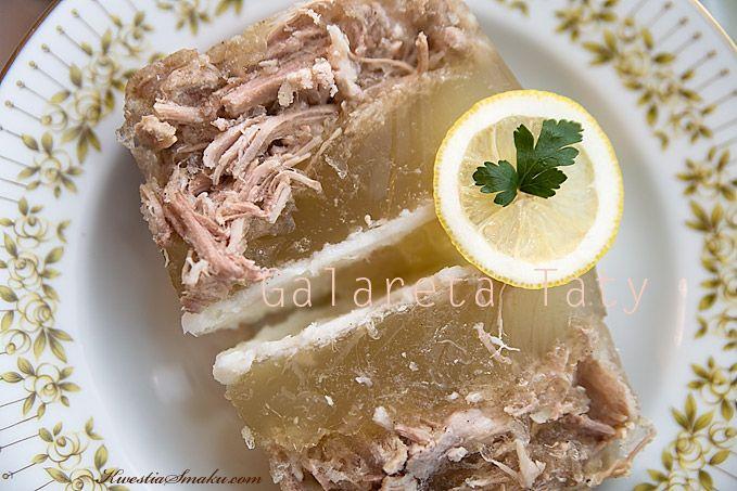 Galareta z cytryną, chuda galareta, Najlepszy sposób na galaretę domową. Galareta, danie domowe na przyjęcie, sprawdzony przepis na galaretę...