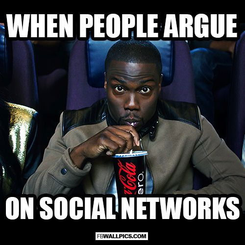 When People Argue On Social Networks Kevin Hart Meme  Facebook Wall Pic