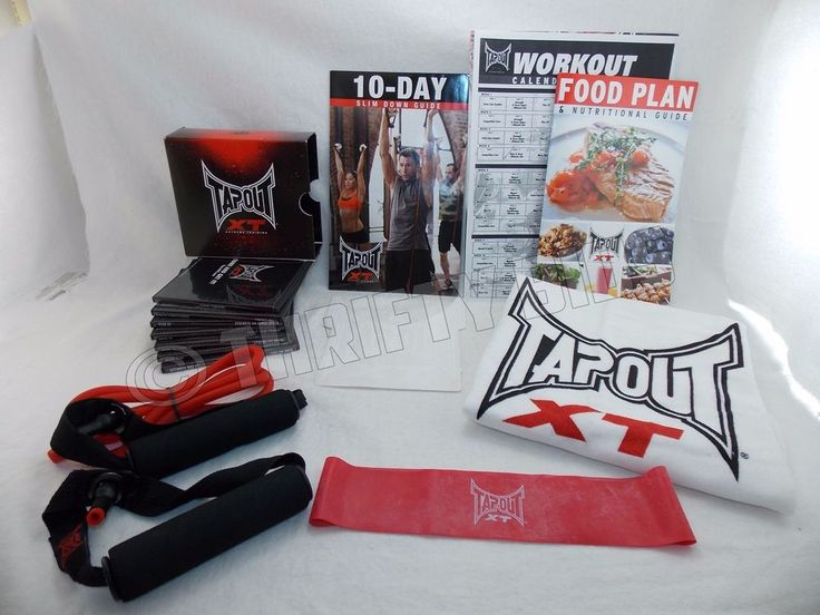 MMA Style TapouT Workout XT 13 DVD Set with Resistance & Power Band Towel