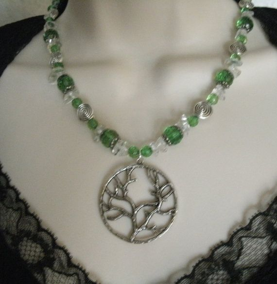 Levensboom ketting Wicca sieraden heidense van Sheekydoodle op Etsy