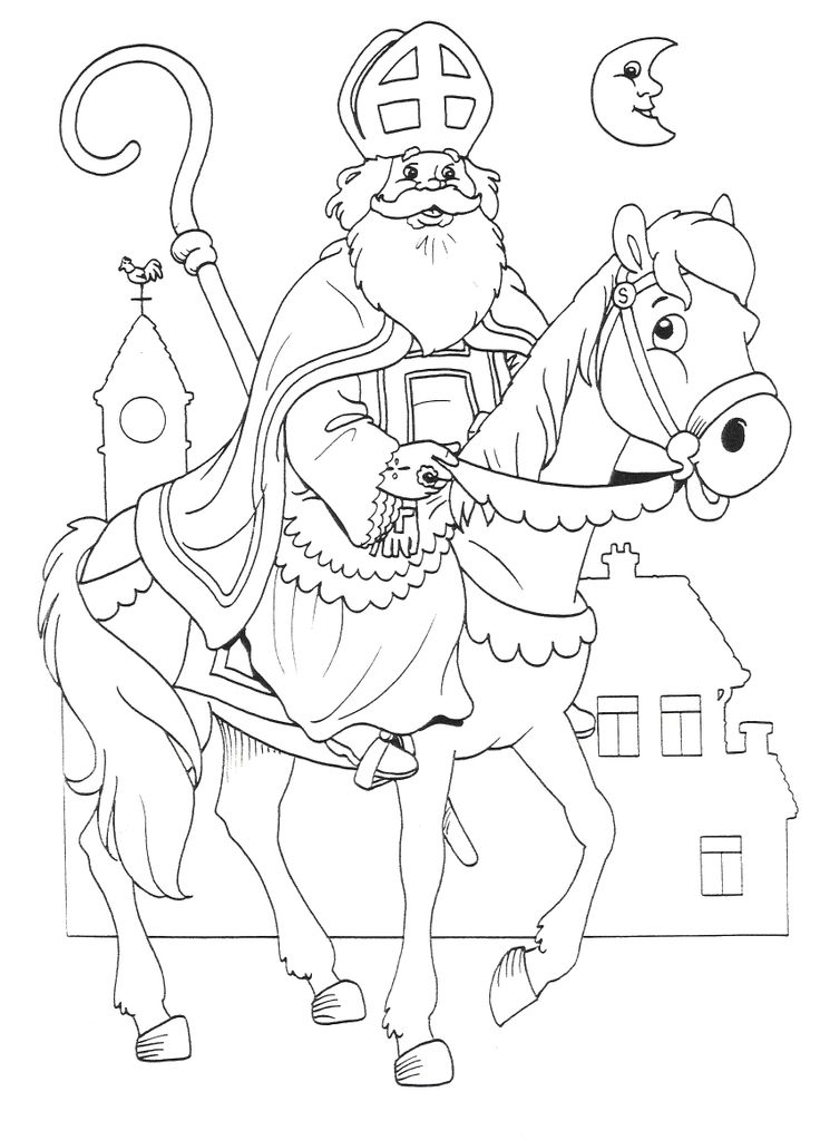 sinterklaas coloring pages - photo#2