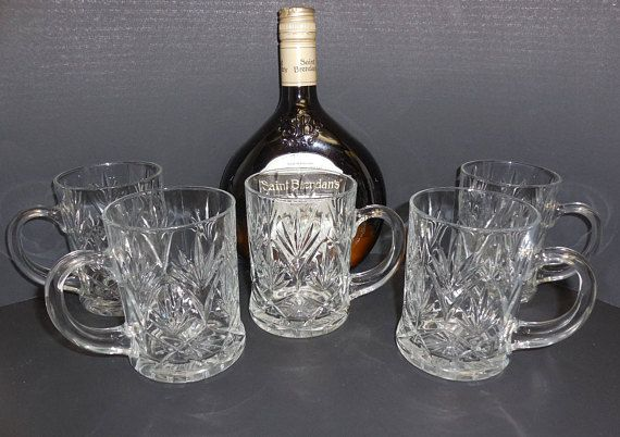 IRISH COFFEE MUGS Glass Mugs Coffee Cups Barware Irish