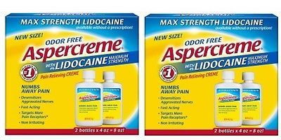 Ointments Creams and Oils: 2 Pk Odor Free Aspercreme With Lidocaine Pain Relieving Creme 2 Pack 4 Oz Each -> BUY IT NOW ONLY: $32.34 on eBay!