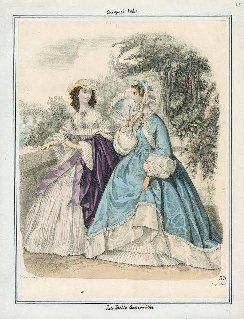 La Belle Assemblee, August 1861. LAPL Visual Collections  Civil War Era Fashion Plate