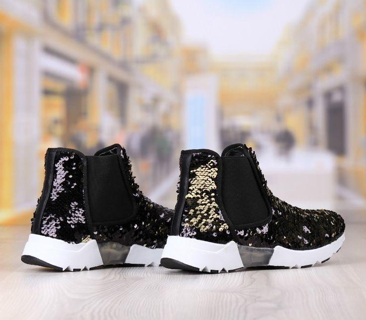 Pantofi Casual Dama Negru-Auriu Cod: 335p