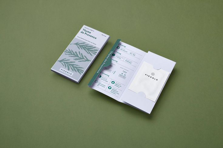 "Here Design used sans-serif typography and infographics to make the packaging more inviting and engaging, as well as to get across the ""urban modernity"" and ""friendly"" language of the seed company."