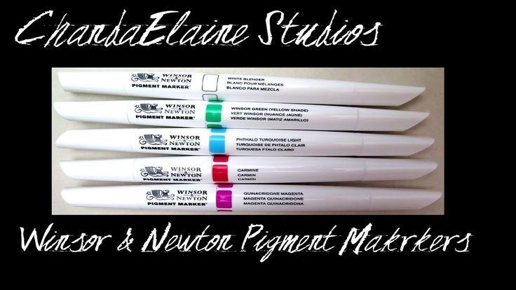 Winsor & Newton Pigment Marker Demo and Comparison