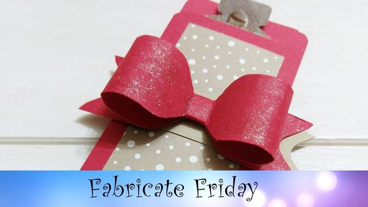 Envelope Punch Board Bow & Gift Holder featuring Stampin' Up! Products
