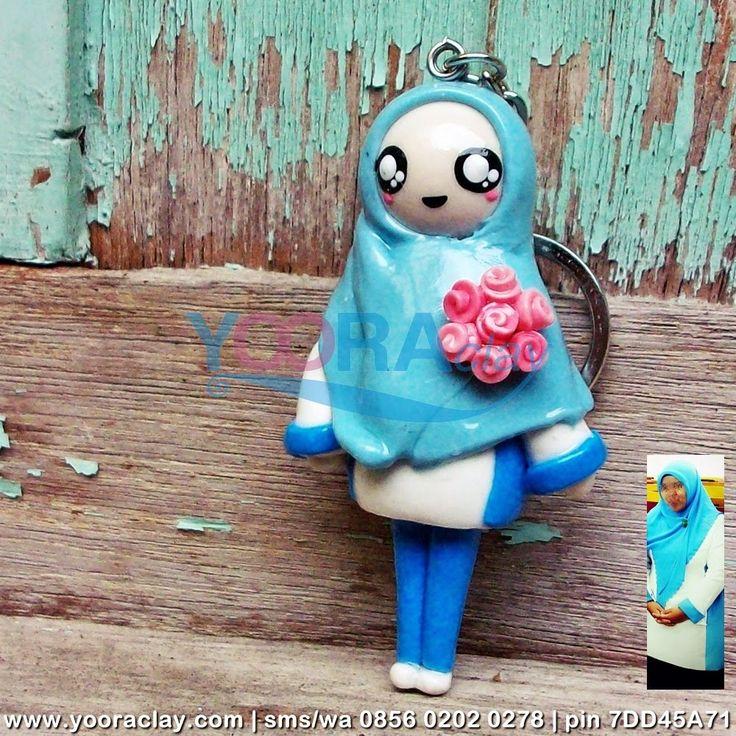 Clay Figure : Hijab Biru