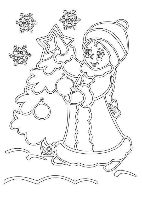 Новогодние картинки вырезалки шаблоны, ребенок цветы