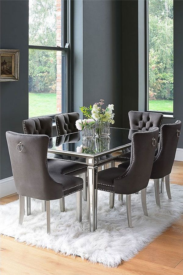 Antoinette Toughened Mirror Dining Table Mirror Dining Table