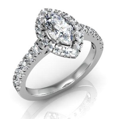 Помолвочное кольцо  Маркиза  4