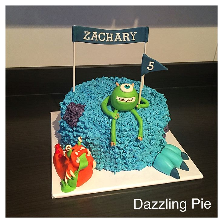 Disney Pixar Monsters, Inc cake made by Dazzling Pie