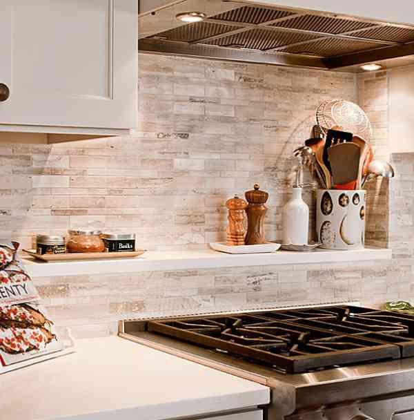 Bright Whites & Grays Rustic Kitchen Backsplash. This is what I want!
