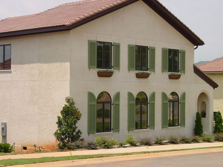 44 best exterior shutters images on pinterest blinds for Spanish style window shutters