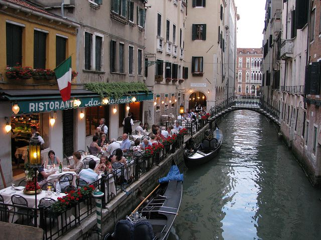 Scenes From An Italian Restaurant Venice Italy