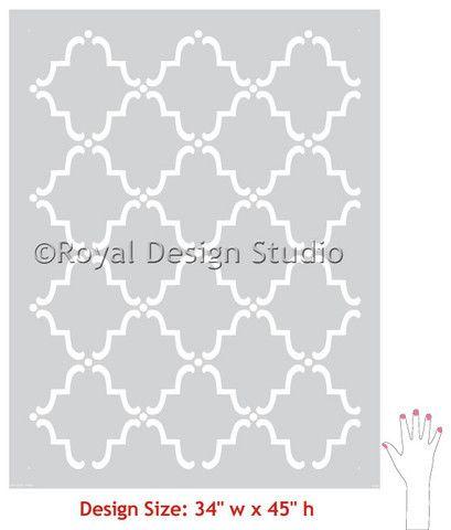 Wall Stencil   Large Moorish Trellis Stencil   Royal Design Studio