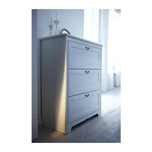 АСПЕЛУНД Комод с 3 ящиками IKEA Ящики со стопором. Чтобы извлечь ящик, приподнимите его.