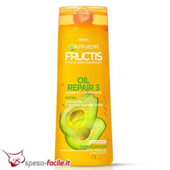FRUCTIS SHAMPOO OIL REPAIR 250ML 3 oli per 3 azioni sui capelli secchi, inariditi, spenti.Scopri i poteri dei 3 Oli meravigliosi del nuovo Shampoo Fructis Oleo Repair 3, per nutrire e riparare in...