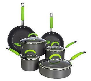 Rachael Ray Hard Anodized Dishwasher Safe 10-piece Cookware Set - WANT!