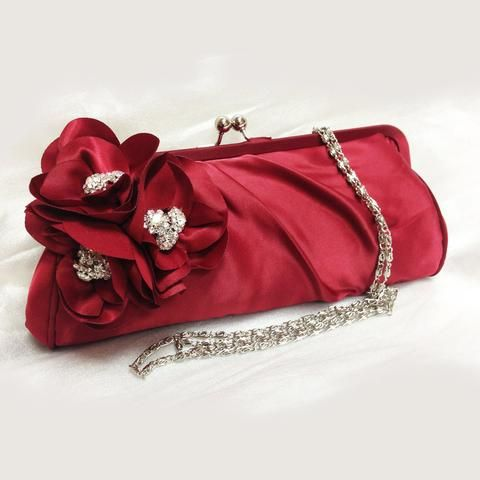 Wedding clutch, Bridesmaid clutch, Red clutch, evening bag, Bridesmaid bag, crystal clutch, flower bag - Glam Duchess - 1 http://glamduchess.com/collections/bridal-clutches?page=2