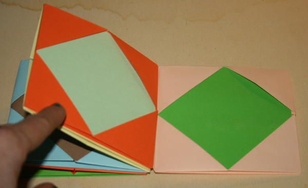 Making books with children - Paper origami picture frame - Tutorial - The pappadolce
