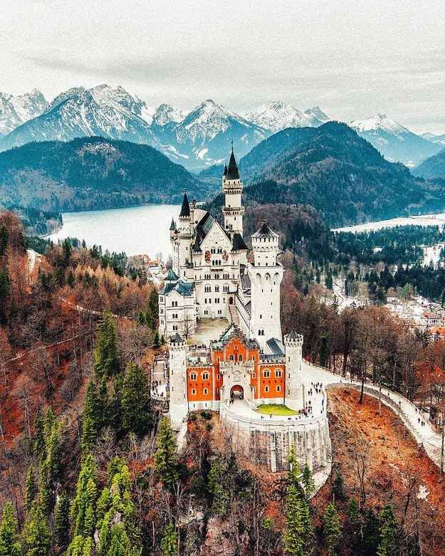 Neuschwanstein Castle in Neuschwanstein, Germany ARTICLE: 17 Real Places That Are Probably Portals To The Wizarding World