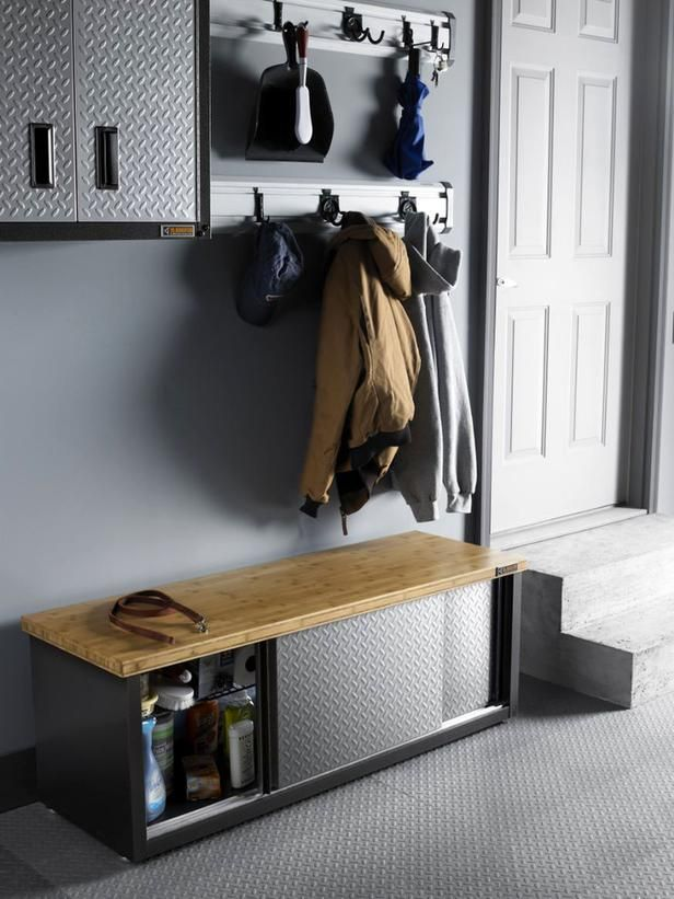 Expand Storage With Multipurpose Furniture Gladiators Garage Works Storage Bench Is Built With A Stu Multipurpose Furniture Gladiator Garage Attic Renovation