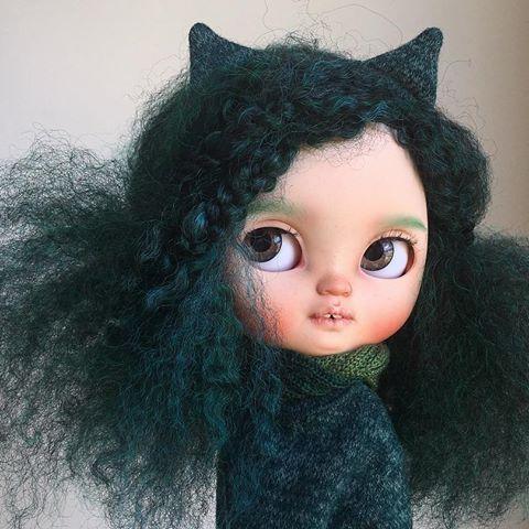 Zelené vlasy se nestarají.  #tiinacustom #icydollcustom