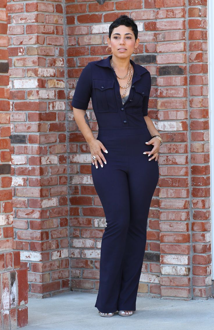 JUMPER5: This is an H&M jumpsuit everyone. This style jumpsuit looks clean, simple and comfortable. Perfect for the office!