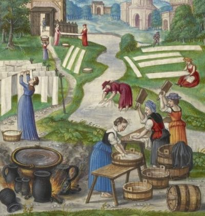 Washday painting from Splendor Solis, 1531, Nuremberg