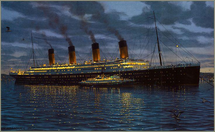 R.M.S. Titanic am 10. April 1912 in Cherbourg