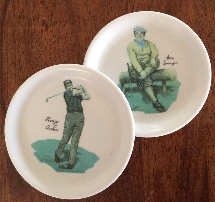 Vintage 1960s Wilson Golf Golfing Greats Drink Coasters Melamine Archer Sarazen in Sporting Goods, Golf, Golf Memorabilia   eBay!