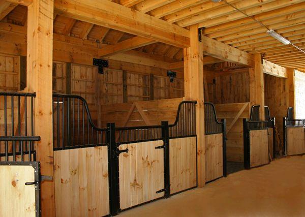 Beautiful open stalls.