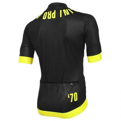Maglia manica corta NALINI PRO Nera nera-giallo neon |  Maglie manica corta | Bob Shop - Negozio per ciclismo