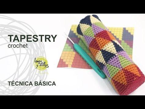 Aprende a tejer en técnica Tapestry a crochet / tutorial   Crochet y Dos agujas