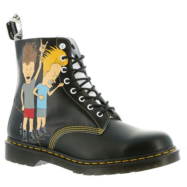 Dr Martens Pascal -Beavis & Butthead Men's Black Boot UK 7        US 8... ($150) ❤ liked on Polyvore featuring men's fashion, men's shoes, men's boots, black, dr martens mens shoes, dr martens mens boots, mens shoes, mens black boots and mens black shoes