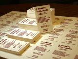 Kreatív papírra nyomotatott névjegykártya
