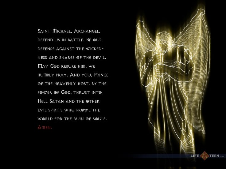 Angel Protection Prayer | St. Michael The Archangel Wallpaper