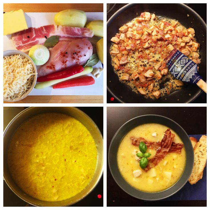Cheese soup with chicken and bacon #mykitchen  #soup  #cheesesoup