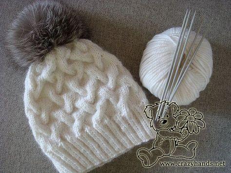 Um tutorial muito detalhado de inverno chapéu de malha para adulto ou bebê