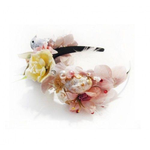 Bird Flower Crown #accessories #fashion #headpiece #fascinator #headdress #hairstyle #wedding #bridal #crystal #glamour #chic #millinery #romantic #fantasy #boho #crown #swarovski #weddingheadpiece #collection #fairy #weddings #look