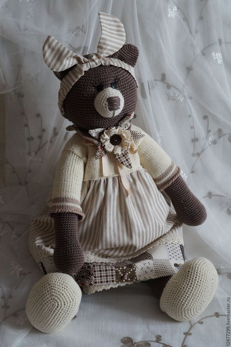 Купить Паулина фон Медведеff, вязанная мишка - коричневый, мишка, мишка тедди