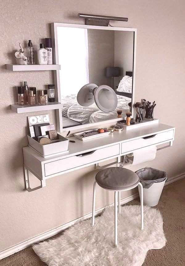 Furniture Dressing Bedroom Mounted Makeup Vanity Design